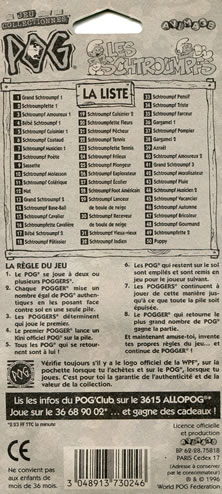 Checklist Les Schtroumpfs