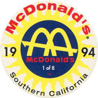 Pog n°1 - McDonald's - Southern California - Divers