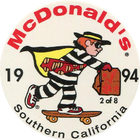 Pog n°2 - McDonald's - Southern California - Divers