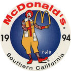 Pog n°7 - McDonald's - Southern California - Divers