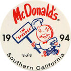 Pog n°8 - McDonald's - Southern California - Divers