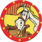 Pog n°2 - Jolly Jumper - Lucky Luke - Petit Brun Extra - World Pog Federation (WPF)