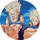 Pog n°64 - Trunks, Sangoten & Vegeta - Dragon Ball Z - Caps - Panini