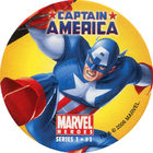 Pog n°1 - Captain America (leaping) - Marvel Heroes - Global Pog Association (GPA)