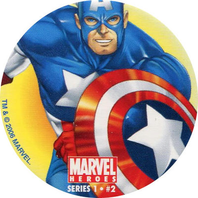 Pog N°2 - Captain America - Marvel Heroes - Global Pog