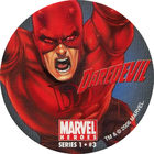 Pog n°3 - Daredevil (leaping) - Marvel Heroes - Global Pog Association (GPA)