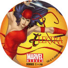 Pog n°6 - Elektra - Marvel Heroes - Global Pog Association (GPA)