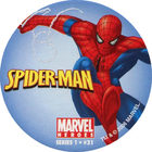 Pog n°31 - Spider-Man (leaping) - Marvel Heroes - Global Pog Association (GPA)