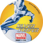 Pog n°33 - Silver Surfer (shredding) - Marvel Heroes - Global Pog Association (GPA)