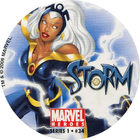 Pog n°34 - Storm - Marvel Heroes - Global Pog Association (GPA)