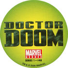 Pog n°48 - Doctor Doom (logo) - Marvel Heroes - Global Pog Association (GPA)