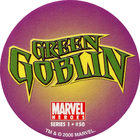 Pog n°50 - Green Goblin (logo) - Marvel Heroes - Global Pog Association (GPA)