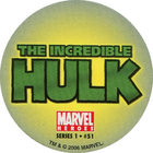 Pog n°51 - Hulk (logo) - Marvel Heroes - Global Pog Association (GPA)
