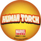 Pog n°52 - Human Torch (logo) - Marvel Heroes - Global Pog Association (GPA)