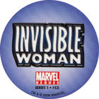Pog n°53 - Invisible Woman (logo) - Marvel Heroes - Global Pog Association (GPA)