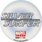 Pog n°55 - Silver Surfer (logo) - Marvel Heroes - Global Pog Association (GPA)