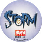 Pog n°57 - Storm (logo) - Marvel Heroes - Global Pog Association (GPA)