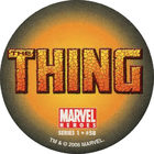 Pog n°58 - Thing (logo) - Marvel Heroes - Global Pog Association (GPA)