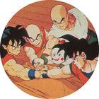Pog n°75 - Yamcha, Krilin, Ten Shin Han, Chaozu & Sangoku - Dragon Ball Z - Caps - Panini