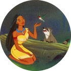 Pog n°9 - Pocahontas et ses amis - Pocahontas - Caps Série Chambourcy - Panini