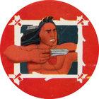 Pog n°19 - Le jeune guerrier - Pocahontas - Caps Série Chambourcy - Panini