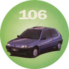 Pog n°1 - Peugeot 106 - Peugeot - World Pog Federation (WPF)