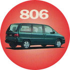 Pog n°6 - Peugeot 806 - Peugeot - World Pog Federation (WPF)