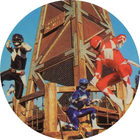 Pog n°11 - Power Rangers - Dos bleu - World Pog Federation (WPF)