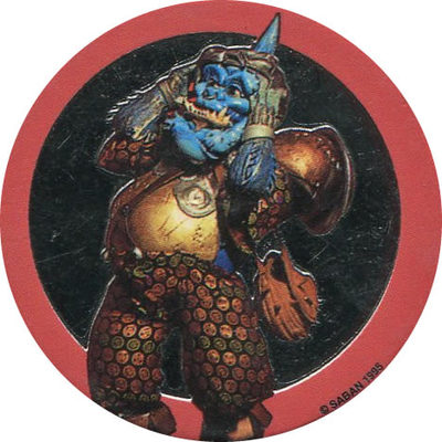 Pog n° - Power Rangers - Dos bleu - World Pog Federation (WPF)