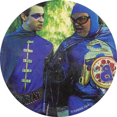 Pog n° - Power Rangers - Dos bleu - World Pog Federation (WPF)