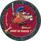 Pog n°32 - AGENT DE POGLICE 1 - Série n°2 - Petits musclés - World Pog Federation (WPF)