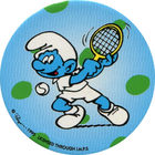 Pog n°22 - Schtroumpf Tennis - Les Schtroumpfs - World Pog Federation (WPF)