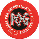 Pog n°21 - Red POG - Series #1 - Global Pog Association (GPA)